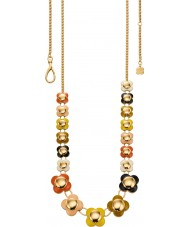 Orla Kiely N4021 Ladies cadeia 18 quilates de ouro multi colored longo colar de flores