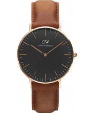 Daniel Wellington DW00100138 relógio clássico 36 milímetros Durham preto