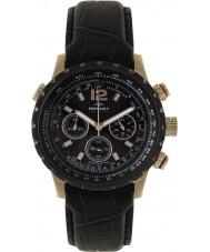 Rotary GSI00121-04 Mens Aquaspeed piloto cronógrafo de couro preto relógio pulseira