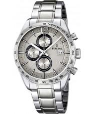 Festina F16759-2 Homens de aço pulseira de prata cronógrafo relógio