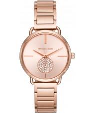 Michael Kors MK3640 Senhoras Portia subiu banhado a ouro pulseira de relógio