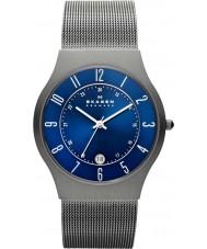 Skagen 233XLTTN Mens klassik titânio relógio de prata malha