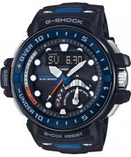 Casio GWN-Q1000-1AER rádio dos homens g-shock resina preta controlada pulseira de relógio