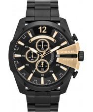 Diesel DZ4338 Mens mega-chefe relógio cronógrafo preto