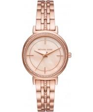 Michael Kors MK3643 Senhoras cinthia subiu banhado a ouro pulseira de relógio