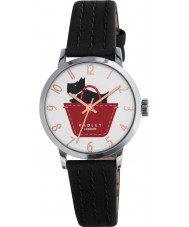 Radley RY2345 As senhoras fazem fronteira com couro preto e âmbar pulseira de relógio