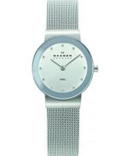 Skagen 358SSSD Ladies Klassik relógio malha prata do cromo