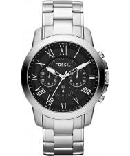 Fossil FS4736 Mens conceder prata preto relógio cronógrafo