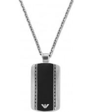 Emporio Armani EGS1921040 Mens de veludo elegante dois tons de aço colar