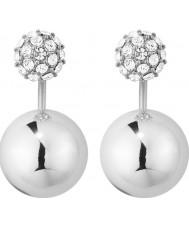 Dyrberg Kern 339282 Senhoras Edie brincos de prata de bronze com cristais