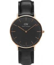 Daniel Wellington DW00100139 relógio clássico 36 milímetros Sheffield preto