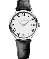 Raymond Weil 5488-STC-00300 Mens tocata pulseira de relógio de couro preto