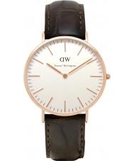 Daniel Wellington DW00100011 Mens clássico 40 milímetros york subiu relógio de ouro