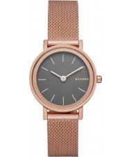 Skagen SKW2470 Ladies hald rosa banhado a ouro de malha pulseira relógio