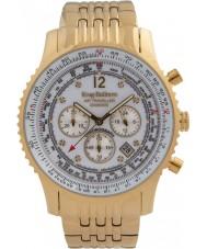 Krug-Baumen 600101DS Mens viajante ar relógio de diamantes