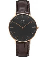 Daniel Wellington DW00100140 relógio clássico 36 milímetros york preto