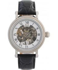 Krug-Baumen 60112DM prestígio Mens couro preto relógio pulseira
