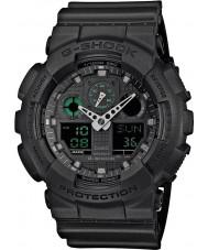Casio GA-100MB-1AER Mens g-choque matt resina preta relógio de pulseira