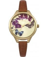 Oasis B1540 Ladies couro tan relógio pulseira