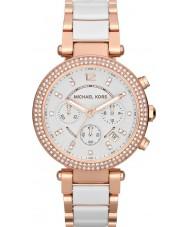 Michael Kors MK5774 Ladies parker dois tons relógio cronógrafo de cerâmica