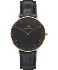 Daniel Wellington DW00100141 relógio clássico 36 milímetros de leitura preto