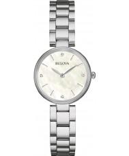 Bulova 96S159 Galeria de diamante feminino prata pulseira de relógio