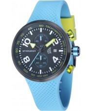 Spinnaker SP-5029-02 Mens luz dinâmica azul silicone integrada pulseira de relógio