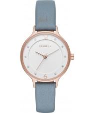 Skagen SKW2497 Ladies anita couro azul pulseira de relógio