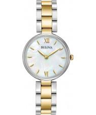 Bulova 98L226 Vestido de damas dois tons pulseira de ouro relógio
