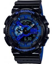 Casio GA-110LPA-1AER Mens g-shock tempo do mundo resina azul preto relógio pulseira