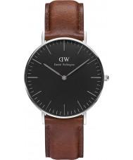 Daniel Wellington DW00100142 st relógio preto clássico mawes 36 milímetros