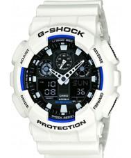 Casio GA-100B-7AER Mens g-shock tempo do mundo resina branca relógio de pulseira