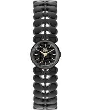 Orla Kiely OK4024 Senhoras fosco louro preto de aço pulseira de relógio