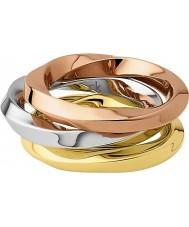 Calvin Klein KJ0KDR300106 Ladies exclusiva tricolor ring - tamanho l
