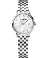 Raymond Weil 5988-ST-97081 Senhoras prata tocata relógio de aço do diamante