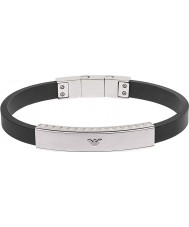 Emporio Armani EGS1882040 assinatura dos homens pulseira de silicone preta