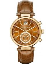 Michael Kors MK2424 Ladies Sawyer cronógrafo whisky pulseira de couro relógio