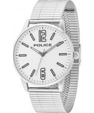 Police 14765JS-04M Mens Esquire relógio pulseira de aço de prata