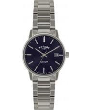 Rotary GB02874-05 Mens relógios vingador relógio de prata azul