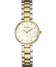Bulova 98S146 Ladies diamante dois tons pulseira de aço relógio