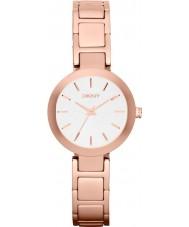 DKNY NY2400 Ladies Stanhope pulseira rosa relógio do aço ouro
