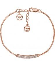 Emporio Armani EG3260221 Ladies Stelle pura pave subiu esterlina ouro pulseira de prata