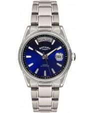 Rotary GB02660-05 Mens relógios havana azul relógio de prata