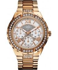 Guess W0111L3 Ladies subiu relógio multifuncional ouro