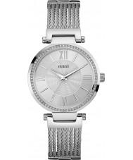 Guess W0638L1 Ladies soho prata relógio pulseira de aço