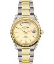 Rotary GB02661-20 Mens relógios havana relógio de prata de ouro
