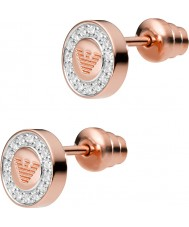 Emporio Armani EG3054221 Ladies 18ct águia pura rosa banhado a ouro brincos