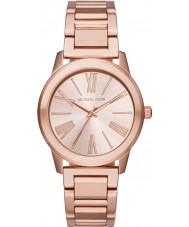 Michael Kors MK3491 Ladies Hartman subiu pulseira de relógio de aço ouro