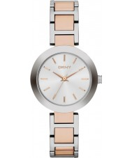 DKNY NY2402 Ladies Stanhope dois tons pulseira de aço relógio