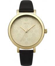 Oasis B1544 Senhoras de couro preto relógio pulseira